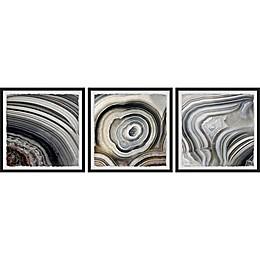 Marmont Hill Beige Swirls Framed Triptych Wall Art