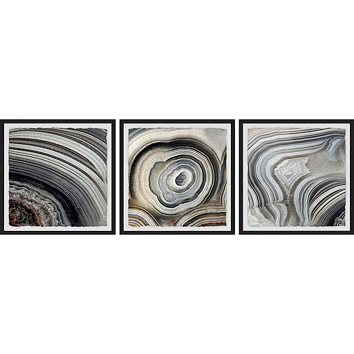 Alternate image 1 for Marmont Hill Beige Swirls 36-Inch x 12-Inch Framed Triptych Wall Art