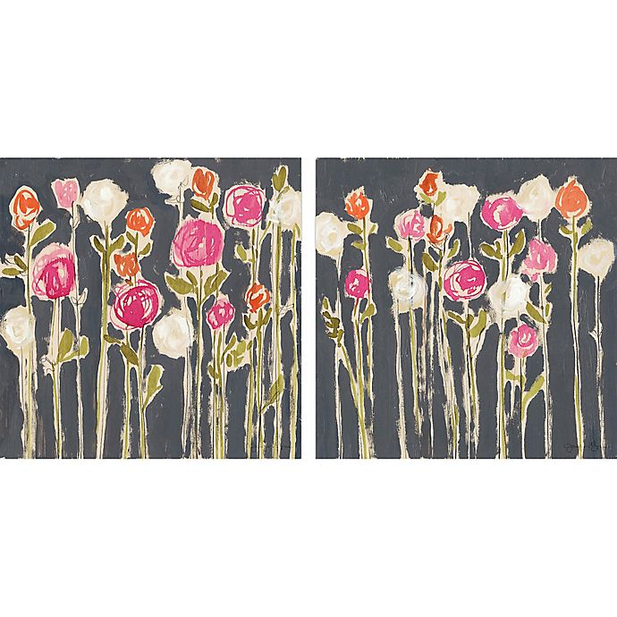 Alternate image 1 for Marmont Hill Rose Garden 36-Inch x 18-Inch Diptych Canvas Wall Art (Set of 2)