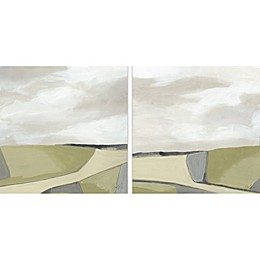 Marmont Hill Olive Finish Diptych Canvas Wall Art (Set of 2)