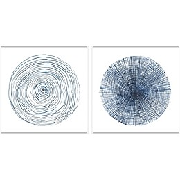Marmont Hill Circle Lines Framed Diptych Wall Art
