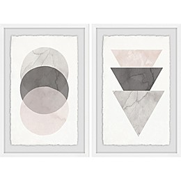 Marmont Hill Triple Shade Framed Diptych Wall Art