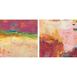 Marmont Hill Sunset Sand Canvas Diptych Wall Art