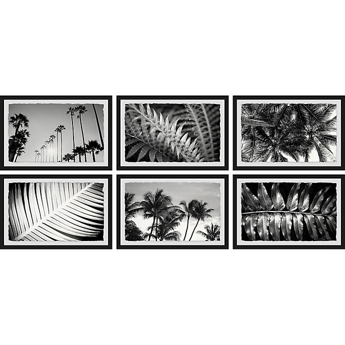 Alternate image 1 for Marmont Hill Summer Palms 54-Inch x 24-Inch Framed Hexaptych Wall Art