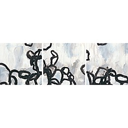 Marmont Hill Causal Gesture Canvas Triptych Wall Art