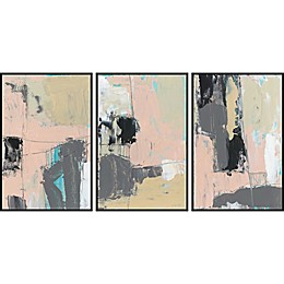 Marmont Hill Pink-A-Boo Framed Triptych Wall Art (Set of 3)
