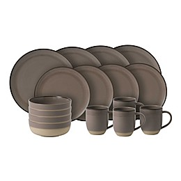 ED Ellen Degeneres Crafted By Royal Doulton® Brushed Glaze 16-Piece Dinnerware Set in Taupe