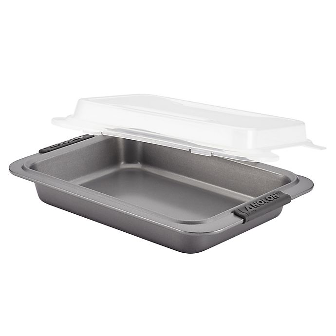 Alternate image 1 for Analon® Nonstick 9-Inch x 13-Inch Rectangular Covered Cake Pan