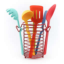 Fiesta® 7-Piece Multicolor Silicone Kitchen Utensil Set with Caddy<br />