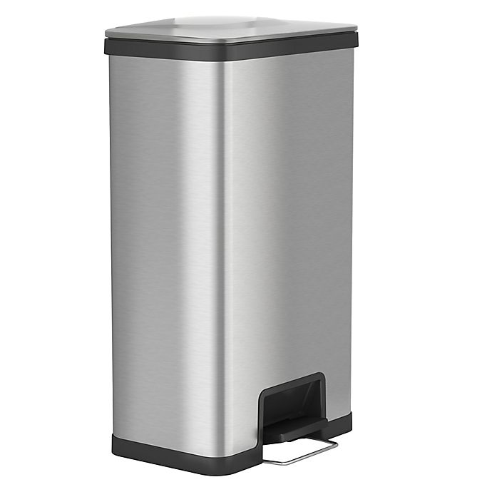 halo™ AirStep Stainless Steel 18-Gallon Kitchen Trash Can ...