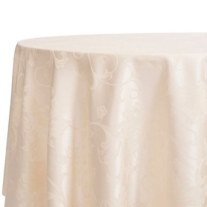 Alternate image 1 for Autumn Vine 70-Inch Round Tablecloth in Ivory Damask