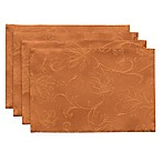 Autumn Vines Placemats in Bronze Damask (Set of 4)