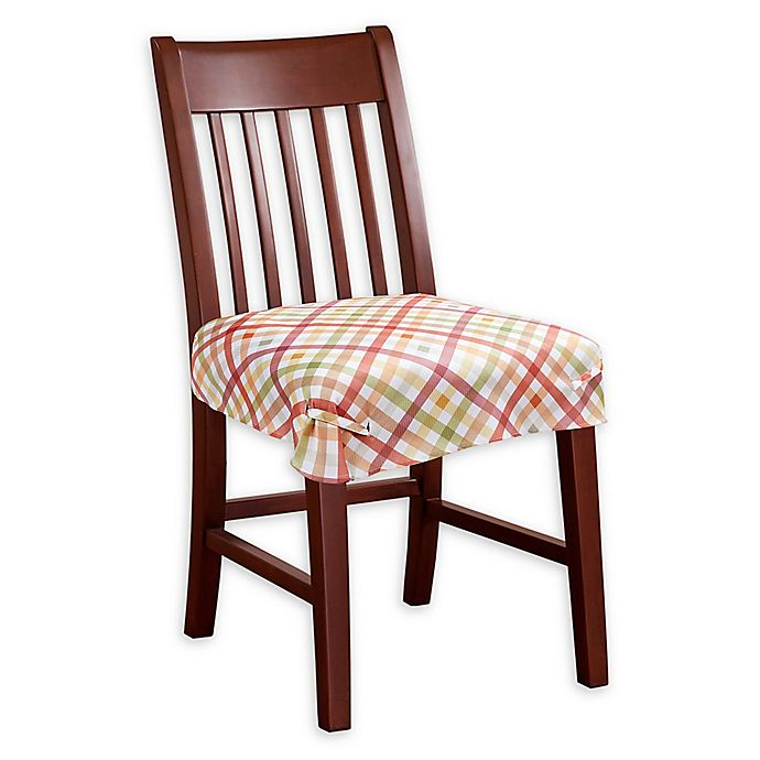 Prime Autumn Gingham Seat Covers Set Of 2 Bed Bath Beyond Andrewgaddart Wooden Chair Designs For Living Room Andrewgaddartcom