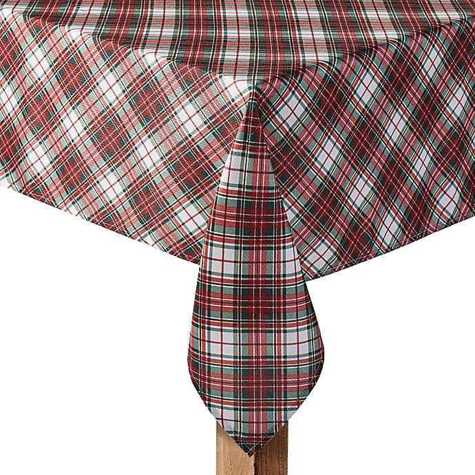 Alternate image 1 for Holiday Tartan Plaid Table Linen Collection