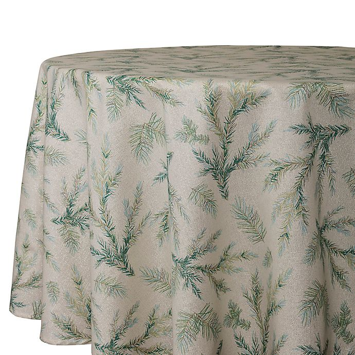 Alternate image 1 for Whispering Pines 70-Inch Round Tablecloth