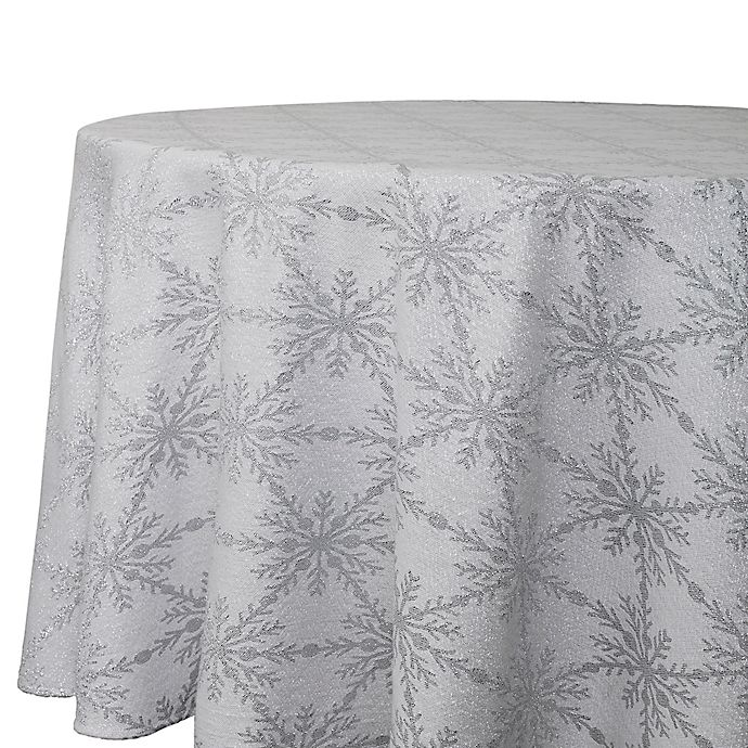 70 Inch Round Table Cloth.Winter Woven 70 Inch Round Tablecloth In Grey Bed Bath Beyond