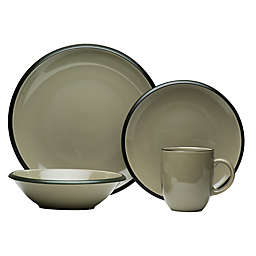 Red Vanilla Hampshire 16-Piece Dinnerware Set in Grey