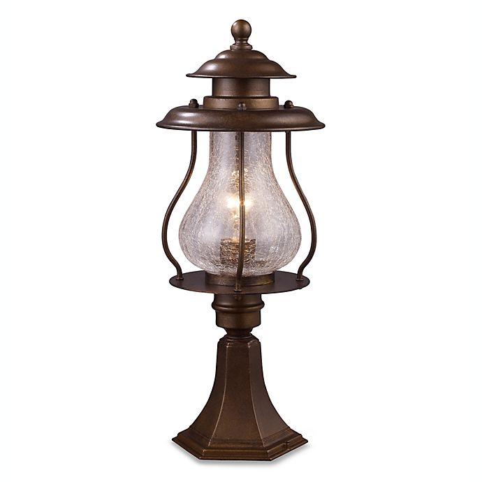 Alternate image 1 for ELK Lighting Wikshire Post-Mount Outdoor Light in Coffee Bronze