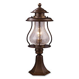 ELK Lighting Wikshire Post-Mount Outdoor Light in Coffee Bronze