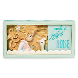 Precious Moments Girl with Goose Shadow Box Figurine