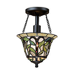 ELK Lighting Latham Semi-Flush Ceiling Light in Tiffany Bronze