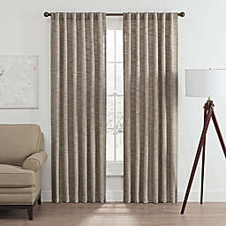 Vella 95-Inch Rod Pocket/Back Tab Room Darkening Window Curtain Panel in Blue