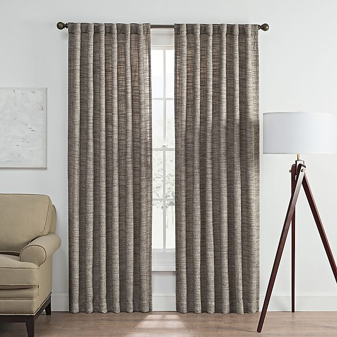 Alternate image 1 for Vella 84-Inch Rod Pocket/Back Tab Room Darkening Window Curtain Panel in Charcoal