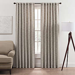 Vella 84-Inch Rod Pocket/Back Tab Room Darkening Window Curtain Panel in Stone