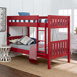 Forest Gate Farmhouse Solid Wood Twin Bunk Bed