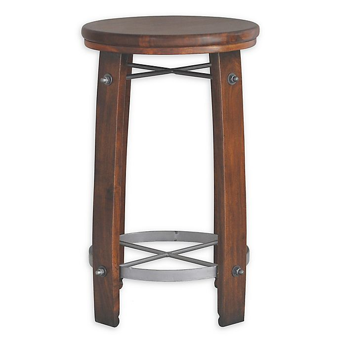 Alternate image 1 for Carolina Forge Wood Barrel Bar Stool