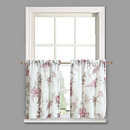 Crushed Voile Rod Pocket Kitchen Curtain Tier Pair