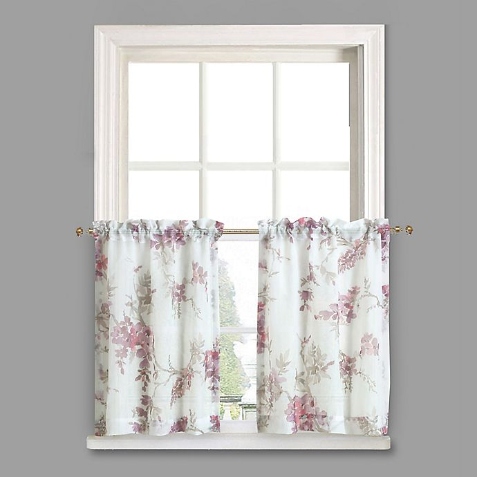 Buy Crushed Voile 45-Inch Rod Pocket Kitchen Curtain Tier