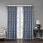 Georgia Print 63-Inch Room Darkening Grommet Window Curtain Panel in Blue