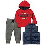 Tommy Hilfiger® Size 3-6M 3-Piece Flag Print Vest and Pants Set