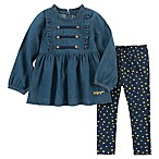 Tommy Hilfiger® Size 18M 2-Piece Chambray Top and Pant Set in Denim