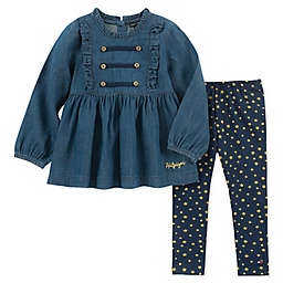 Tommy Hilfiger® 2-Piece Chambray Top and Pant Set in Denim