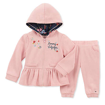 Tommy Hilfiger® 2-Piece Floral Hoodie and Jogger Set in Pink