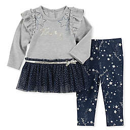 Tommy Hilfiger® 2-Piece Grey Star Top and Pant Set 48ad4addbf9