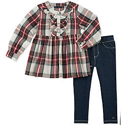 Tommy Hilfiger® 2-Piece Plaid Woven Top and Pant Set