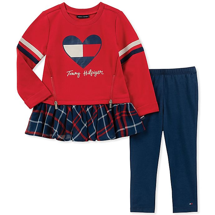 f8129c6de8e Tommy Hilfiger® 2-Piece Heart Print Top and Pant Set in Red | buybuy ...