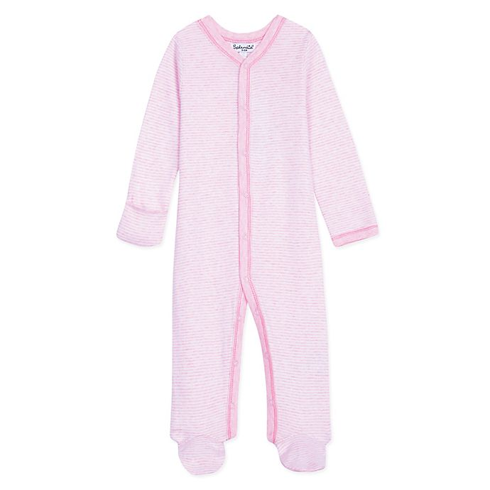 Alternate image 1 for Splendid Kids Size 3-6M Striped Footed Coverall in Pink