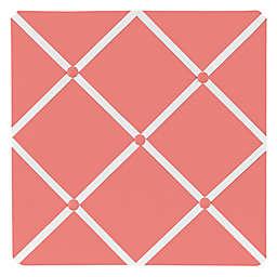 Sweet Jojo Designs Mod Diamond Fabric Memo Board in White/Coral
