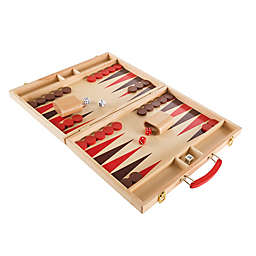 Hey! Play! Wooden Backgammon Game Board