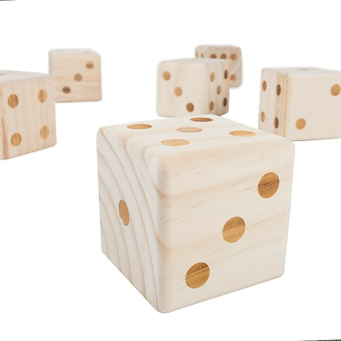 Hey Play Giant Wooden Yard Dice Bed Bath Beyond