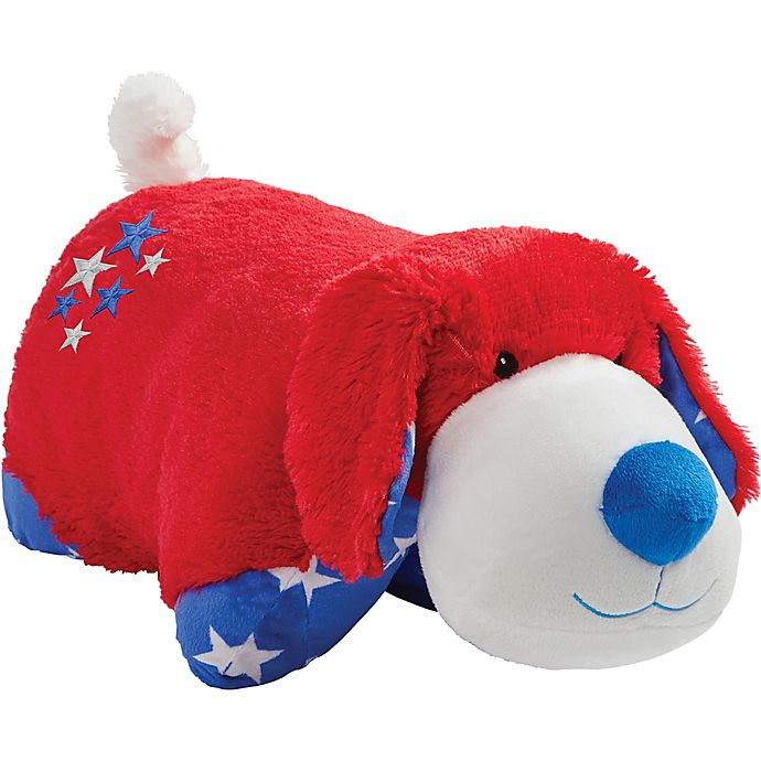 Alternate image 1 for Pillow Pets® Americana Red Puppy Pillow Pet in Red
