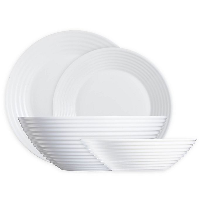 Alternate image 1 for Luminarc Harena Dinnerware Collection in White