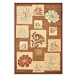 Safavieh Brighton 8-Foot 9-Inch x 12-Foot Room Size Rug in Brown/Multi