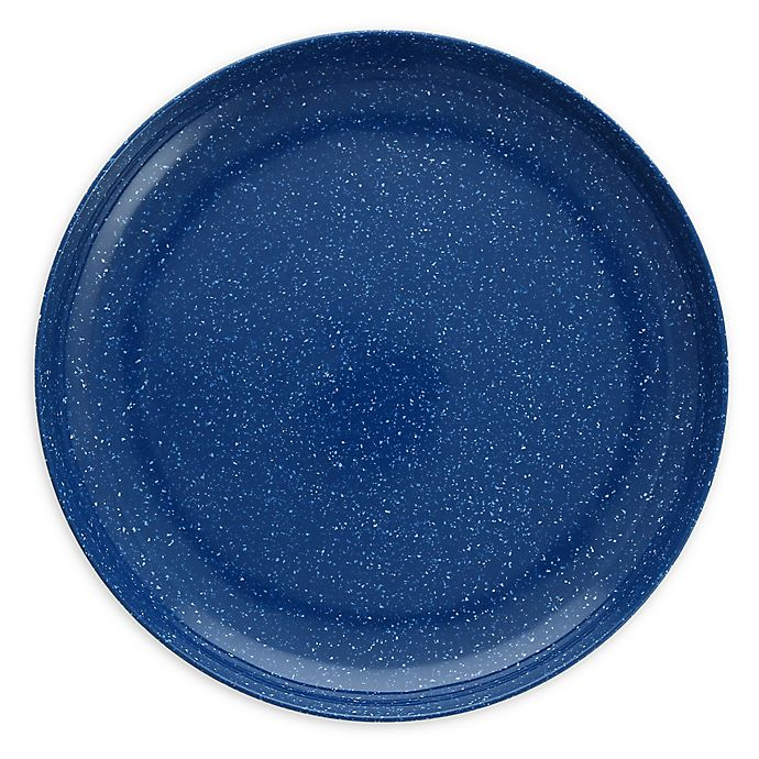 Alternate image 1 for Camp 11-Inch Coupe Melamine Plates in Blue (Set of 6)