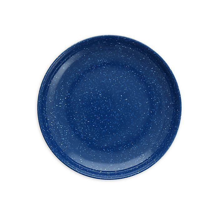 Alternate image 1 for Camp  7-Inch Coupe Melamine Plates in Blue (Set of 12)