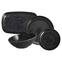 Camp Melamine Dinnerware Collection in Charcoal